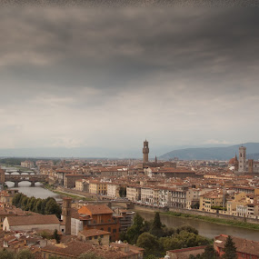 Florence by Ricky Papex - Landscapes Travel ( michelangelo, tuscany, florence, cloudy, travel, italy,  )