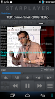 Screenshot of StarPlayer for audio book