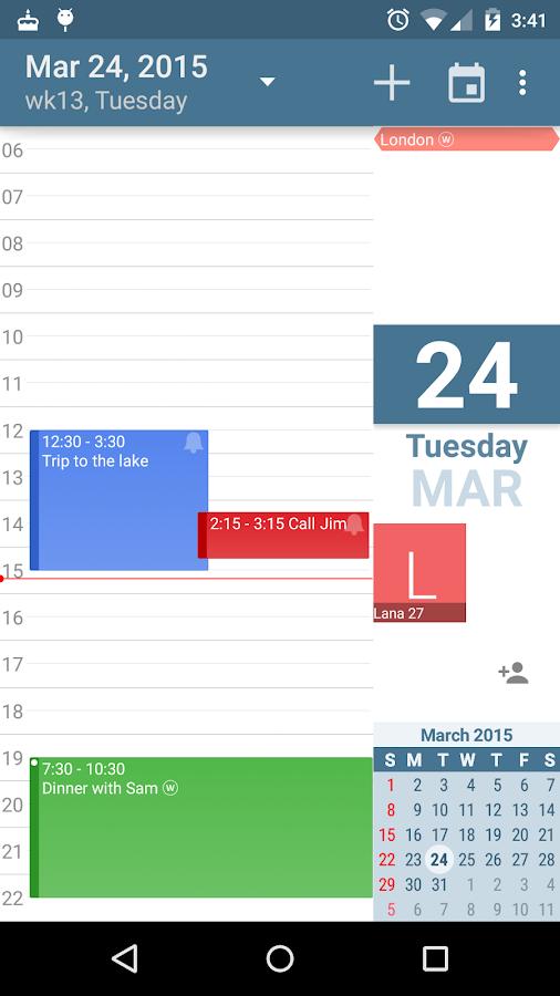 aCalendar - Android Calendar - screenshot