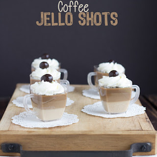 Coffee Jello Shots.