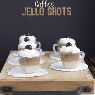 Coffee Jello Shots.