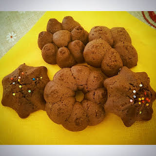 """Shot (in) the dark"" bisquits with cookie press machine."
