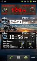 Screenshot of World Weather Clock Widget