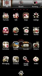 Silver GoLauncher EX theme - screenshot thumbnail