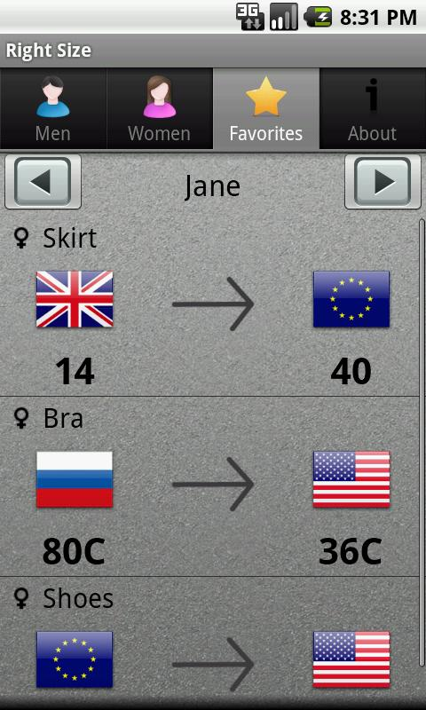 Right Size- screenshot