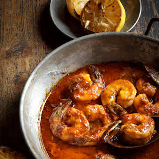 Spicy New Orleans Barbecue Shrimp.