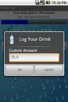 Screenshot of WaterLog