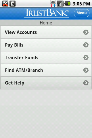 TrustBank - screenshot