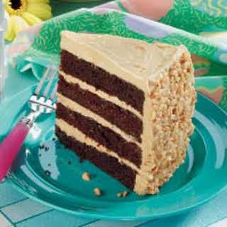 Peanut Chocolate Cake.