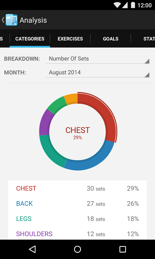 Workout Calendar App : Fitnotes gym workout log android apps on google play