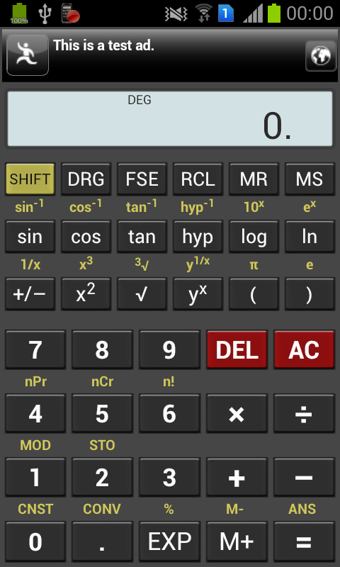 MyCalc Scientific Calculator - screenshot