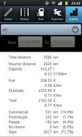 Screenshot of Driver's Log Demo (myLogbook)