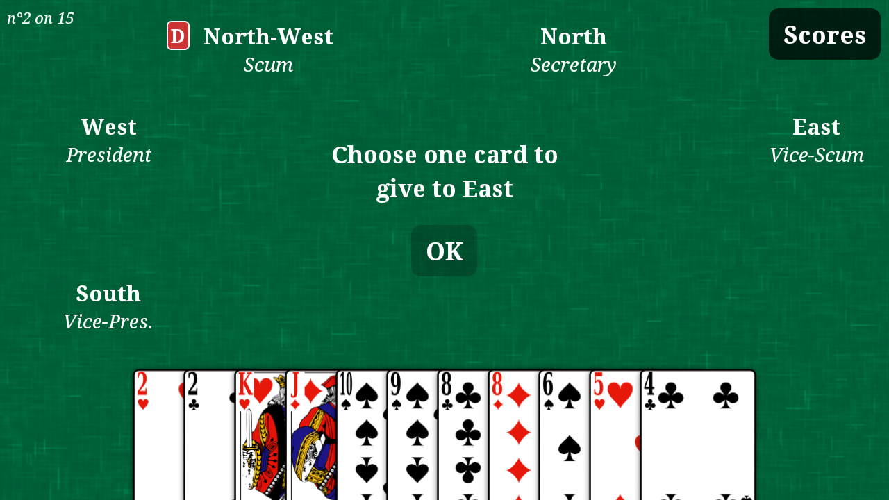 play president card game online