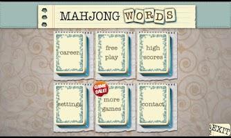 Screenshot of Mahjong Words