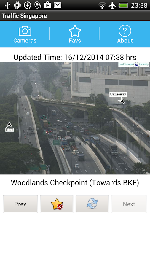 Traffic Cam Singapore FREE - screenshot