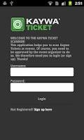 Screenshot of Kaywa Ticket