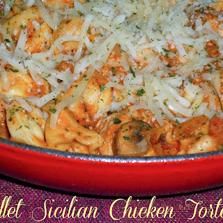 Skillet Sicilian Chicken Tortellini