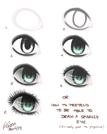 How to draw eye tips