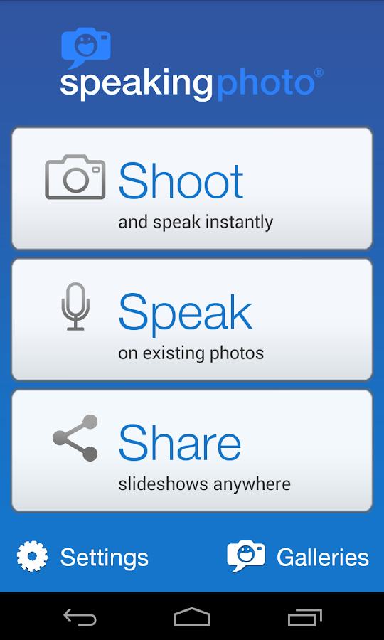 SpeakingPhoto- screenshot