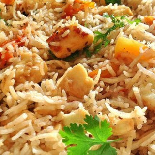 Paneer Pulao (cottage Cheese).