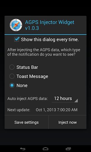 AGPS Injector Widget