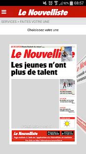 Le Nouvelliste en continu - screenshot thumbnail