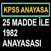 KPSS 1982 Anayasası Özet