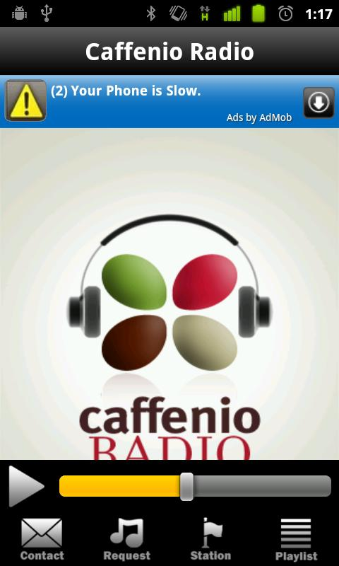 Caffenio Radio - screenshot