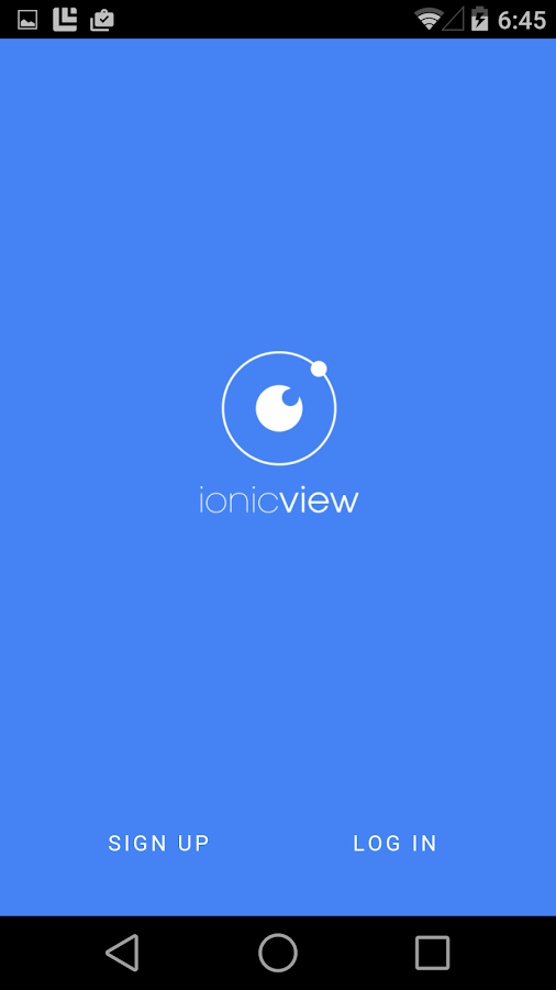 Ionic View- screenshot
