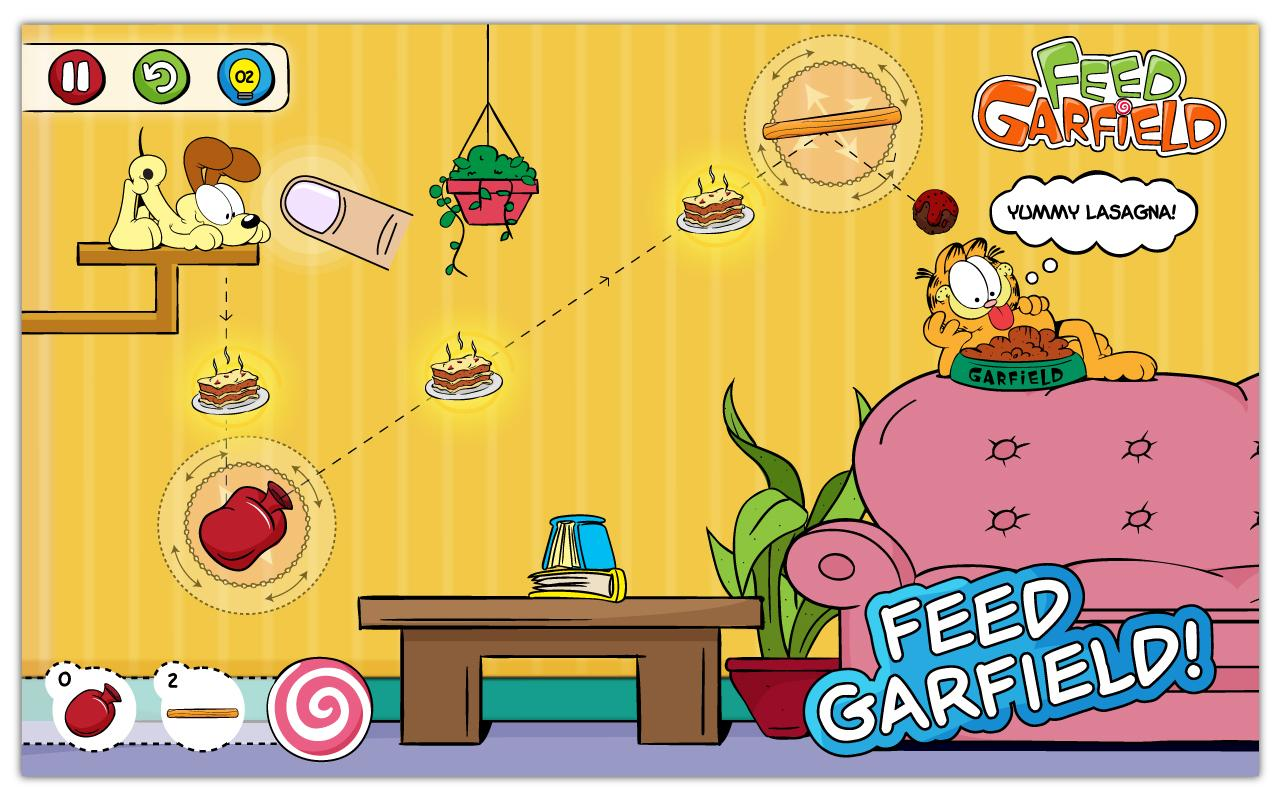 Feed Garfield– captură de ecran
