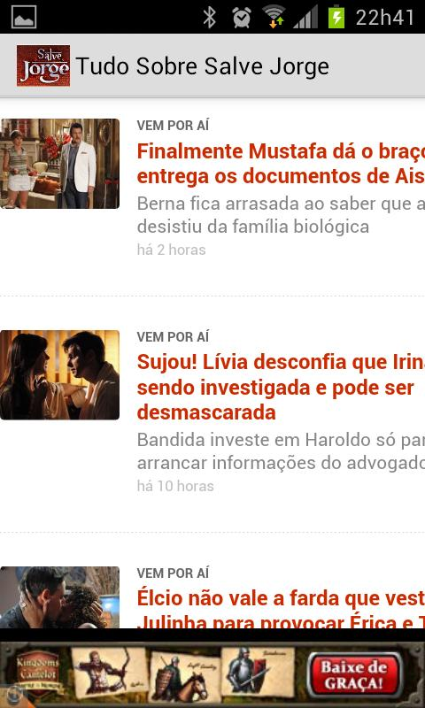 Salve Jorge Soap Opera - screenshot