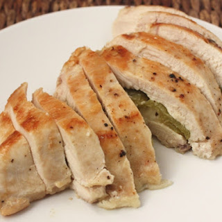 Green Chile and Pepper Jack Stuffed Chicken.