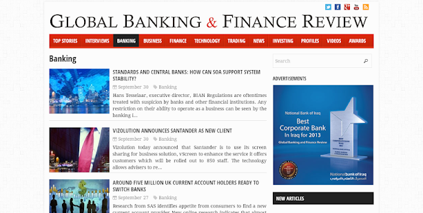 Global Banking And Finance.com - screenshot thumbnail