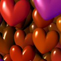 Hearts 3D Free Live Wallpaper logo