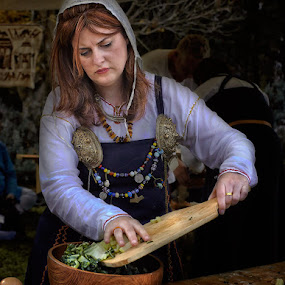 Medieval Cook by Jim Merchant - People Professional People ( cook, woman, medieval, professional )