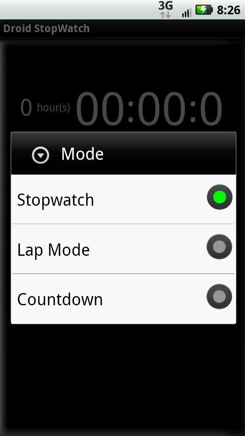 Stopwatch + - screenshot