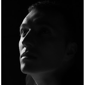shadows by Shaheen Razzaq - Black & White Portraits & People ( black and white, male, dark, portrait, man )