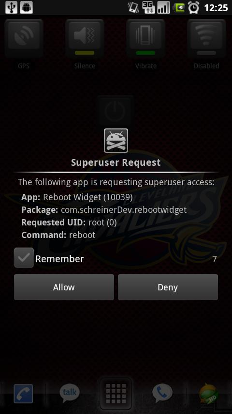 Reboot Widget - screenshot
