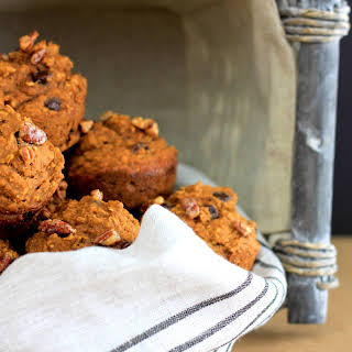 Healthy and Delicious Oatmeal Pumpkin Muffins.