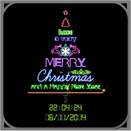 霓虹燈聖誕樹動態桌布 LOGO-APP點子
