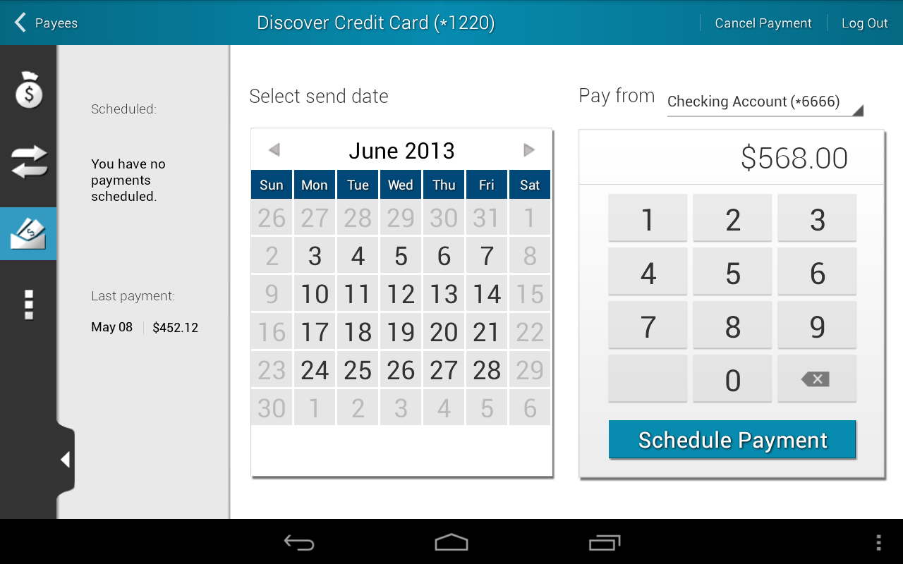 FNB Bank Mobile Banking - screenshot