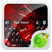 Red moon GO Keyboard Theme