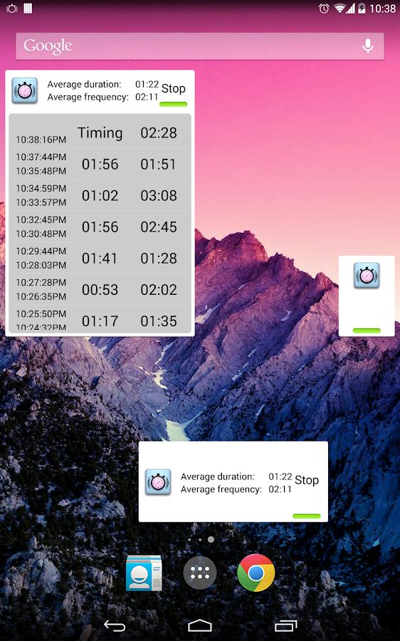 Contraction Timer - screenshot