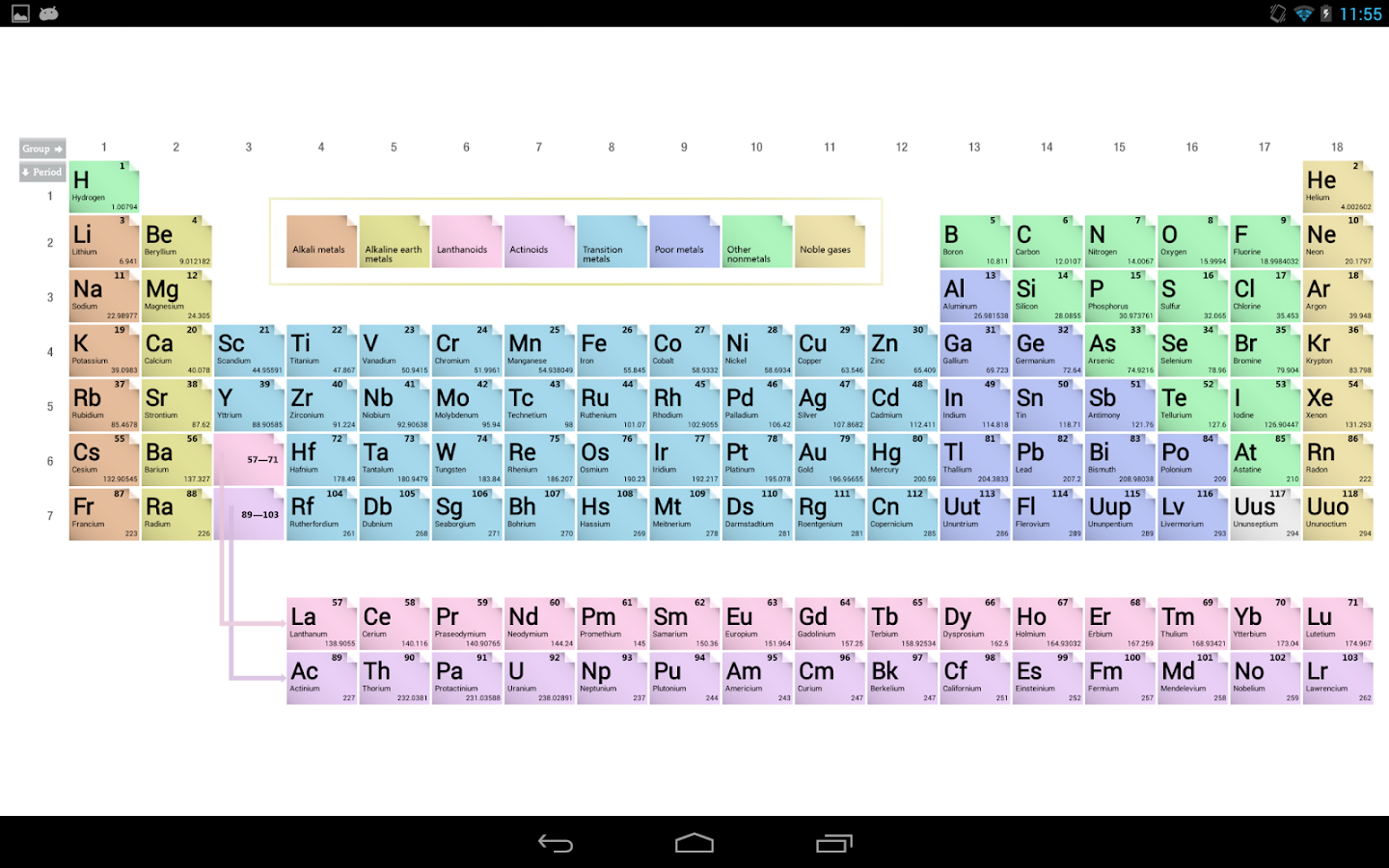 Periodic table android apps on google play periodic table screenshot gamestrikefo Images