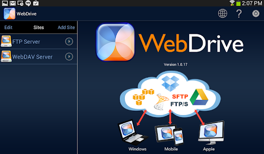 WebDrive, File Transfer Client Screenshot 9