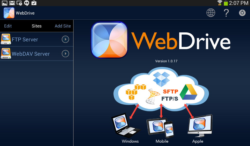 WebDrive, File Transfer Client- screenshot