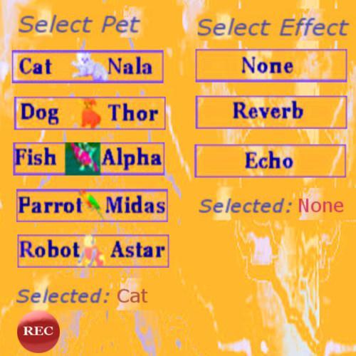 語音轉換為寵物
