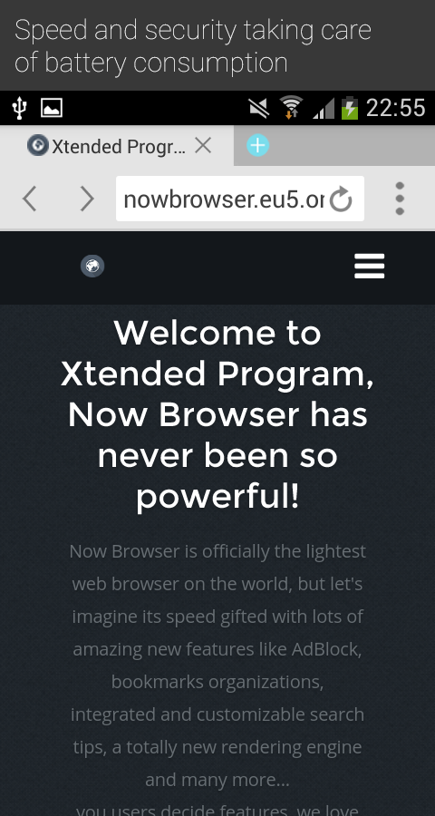 Now Browser Extended(Material) - screenshot