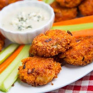 Buffalo Chicken Quinoa Fritters.