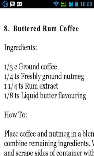 89 Coffee Recipes Original